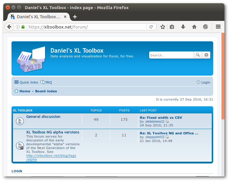 phpBB forum on xltoolbox.net