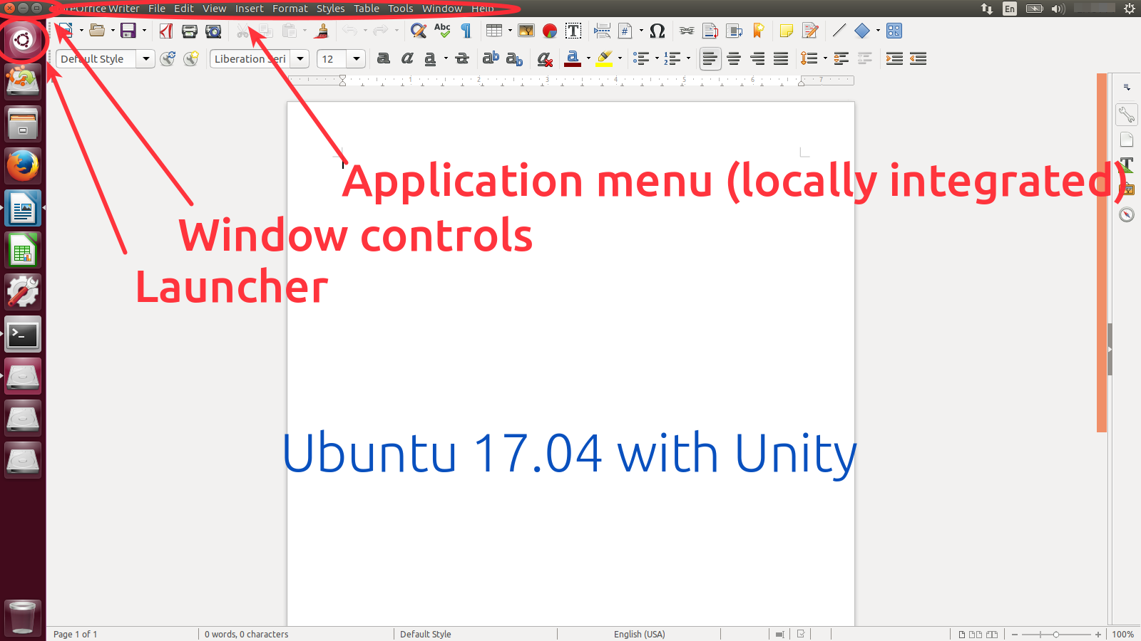 Controls in Ubuntu 17.04