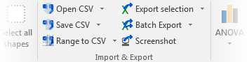 Import and export commands